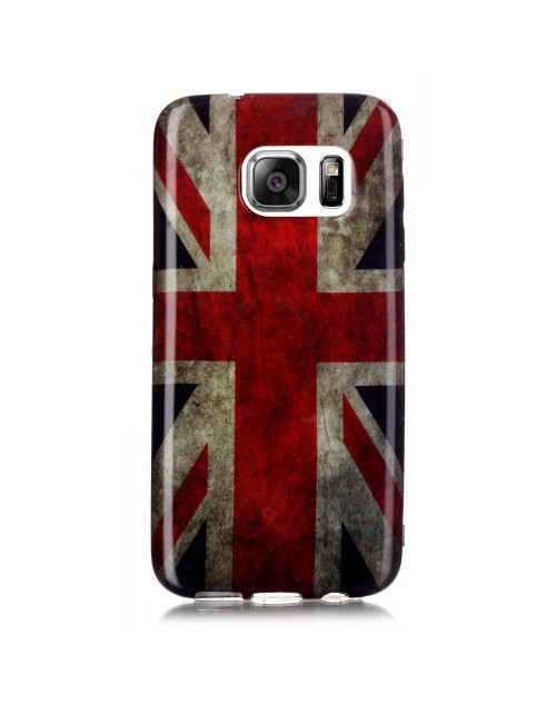 Samsung Galaxy S7 Case, Soft Rubber TPU Gel Silicone Case Back Protective Cover Skin for Samsung Galaxy S7-UK Flag