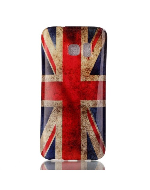 Samsung Galaxy Note 4 Case, Soft Rubber TPU Gel Silicone Case Back Protective Cover Skin for Samsung Galaxy Note 4-UK Flag